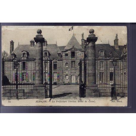 Carte postale 61 - Alencon - La Prefecture - ancien Hotel de Guise - Voyage - Dos divise