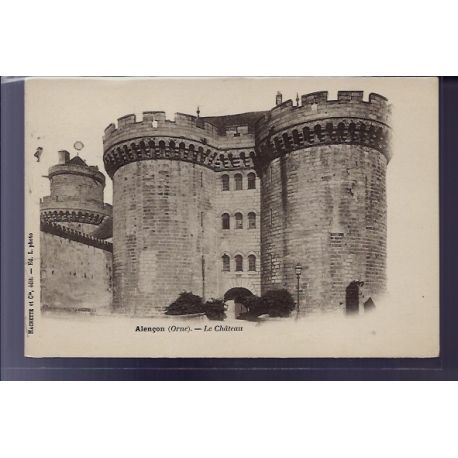 carte postale 61 alencon le chateau non voyage dos non divise. Black Bedroom Furniture Sets. Home Design Ideas