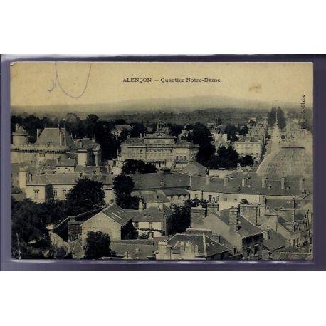 Carte postale 61 - Alencon - Quartier Notre-Dame - Voyage - Dos divise