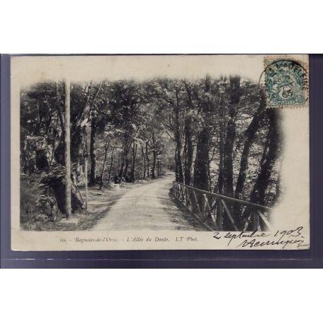Carte postale 61 - Bagnoles-de-l'Orne - allee du Dante - Voyage - Dos non divise