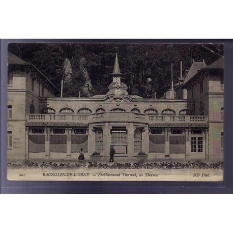 Carte postale 61 - Bagnoles-de-l'Orne - Etablissement thermal, les Thermes - Voyage - Dos d