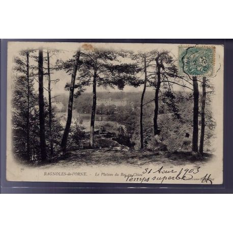 Carte postale 61 - Bagnoles-de-l'Orne - le plateau du Roc au chien - Voyage - Dos non divis