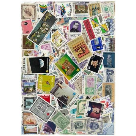 Collection de timbres Costa Rica oblitérés
