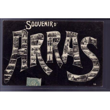 """Carte postale 62 - Arras - Carte souvenir d' Arras"""" avec differentes vues de la ville - V"""""""""""""""