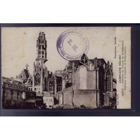 Carte postale 62 - Arras - Interieur du couvent du St-Sacrement - Non voyage - Dos divise