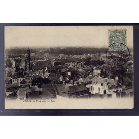 Carte postale 62 - Arras - Panorama - Voyage - Dos divise