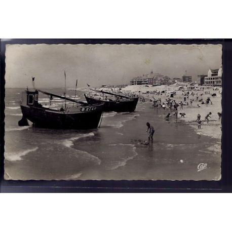 Carte postale 62 - Berck-Plage - la plage a maree montante - Voyage - Dos divise