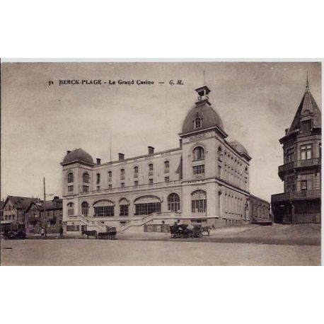 Carte postale 62 - Berck-plage - Le grand Casino - Voyage - Dos divise