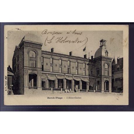 Carte postale 62 - Berck-Plage - L' Eden-casino - Voyage - Dos non divise