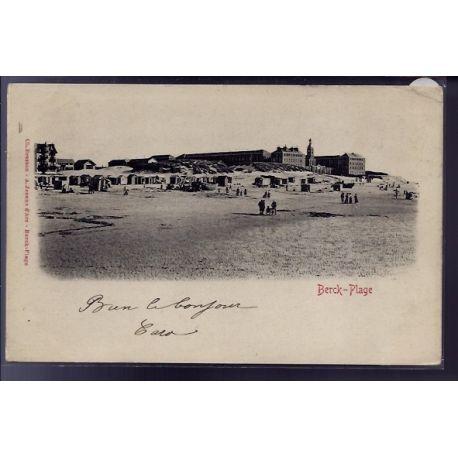 Carte postale 62 - Berck-Plage - la plage - Voyage - Dos non divise