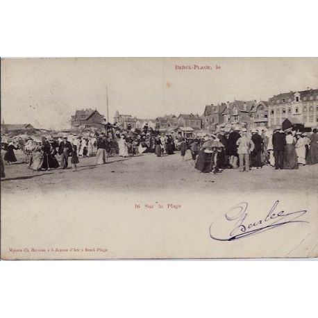 Carte postale 62 - Berck-Plage - Sur la plage - Voyage - Dos non divise