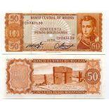 Billets de banque Bolivie Pk N° 162 - 50 Pesos