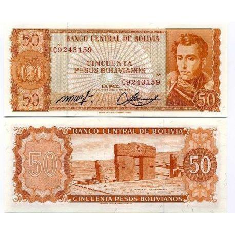 Bolivie - Pk N° 162 - Billet de 50 Pesos