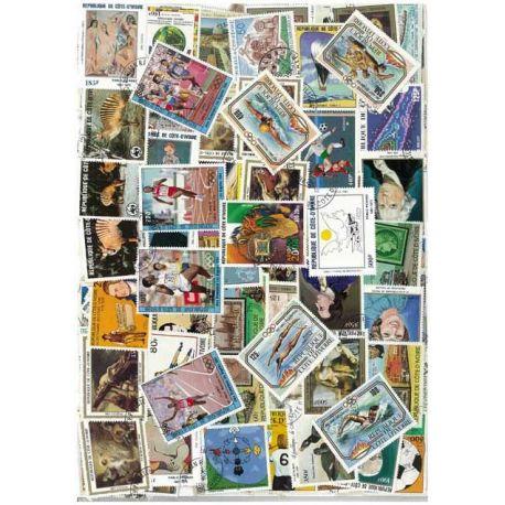 Collection de timbres Cote D Ivoire oblitérés