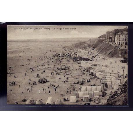 62 - Le Portel - La plage a mer basse - Voyage - Dos divise