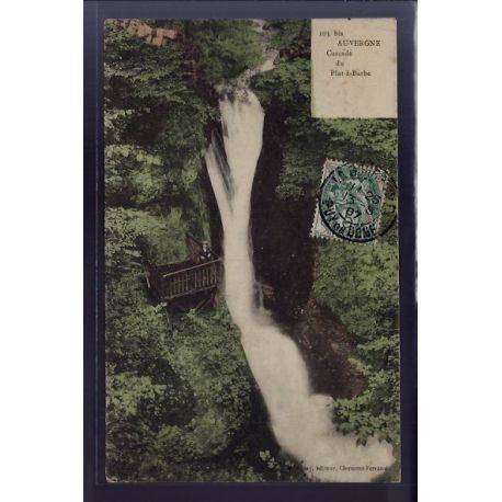 Carte postale 63 - Auvergne - Cascade du Plat-a -Barbe - Voyage - Dos divise