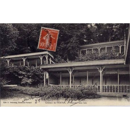 Carte postale 63 - Chateau de Dutrol - Veranda sous bois