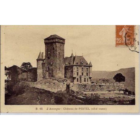 Carte postale 63 - Chateau du Pestel - Cote Ouest