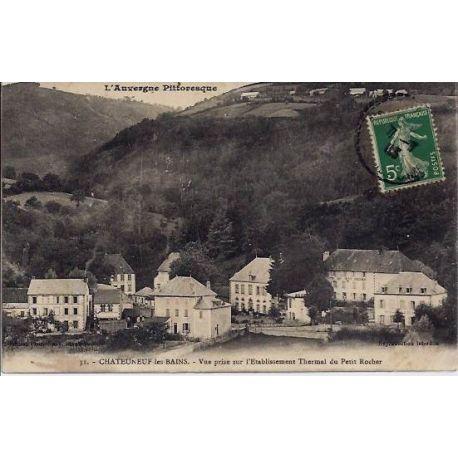 Carte postale 63 - Chateauneuf les bains - Etablissement thermal