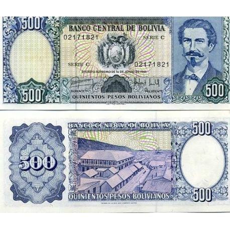 Billets collection Bolivie Pk N° 166 - 500 Pesos