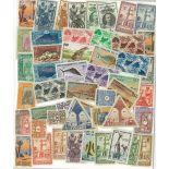 Französische Sammlung gestempelter Briefmarken Quote Somalis