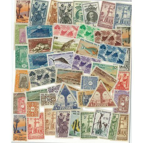 Bewertung der somalischen Francaise - 25 verschiedene Briefmarken