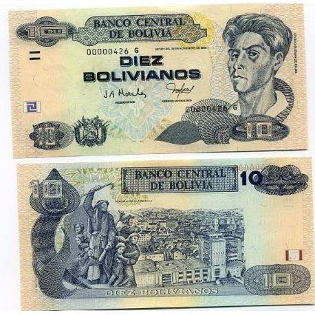 Bolivia - Pk # 223 - Ticket 10 Bolivianos