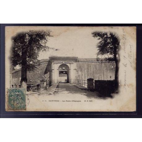 Carte postale 64 - Bayonne - La porte d' Espagne - Voyage - Dos non divise