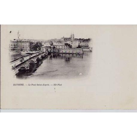 Carte postale 64 - Bayonne - Pont Saint Esprit - Dos non divise