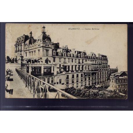 Carte postale 64 - Biarritz - Casino Bellevue - Voyage - Dos divise