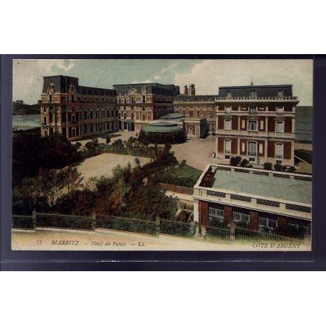 Carte postale 64 - Biarritz - Hotel du Palais - Voyage - Dos divise