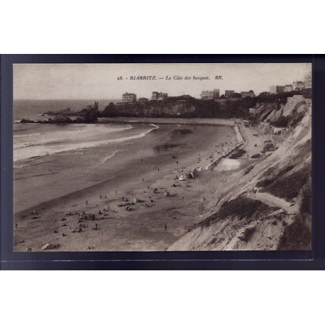Carte postale 64 - Biarritz - la Cote des Basques - Non voyage - Dos divise
