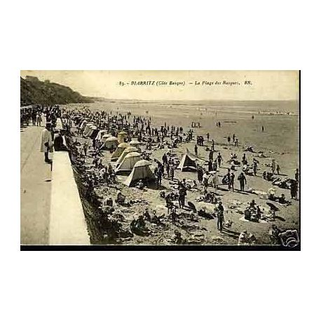 Carte postale 64 - Biarritz - La plage des basques
