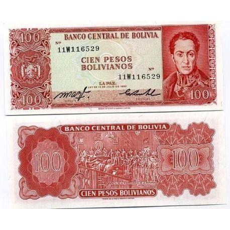 Bolivie - Pk N° 164 - Billet de 100 Pesos