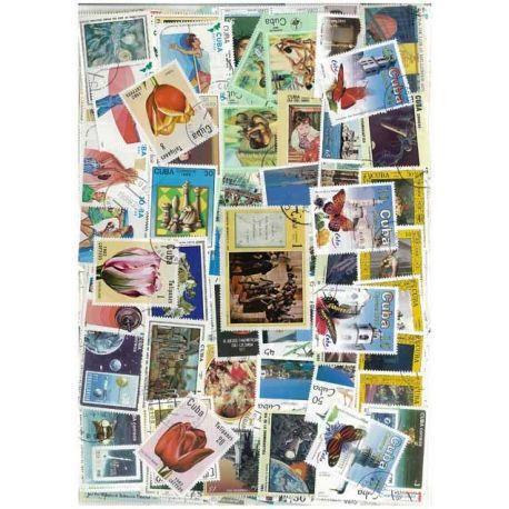 Collection de timbres Cuba oblitérés