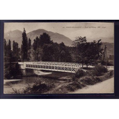 Carte postale 65 - Argeles-Gazost - pont de Tillos - Non voyage - Dos divise