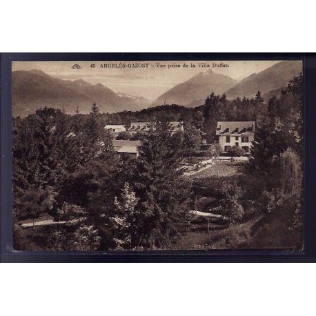 65 - Argeles-Gazost - vue prise de la villa Duffau - Voyage - Dos divise