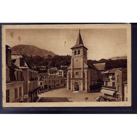 Carte postale 65 - Argeles-Gazots - l' eglise - Voyage - Dos divise