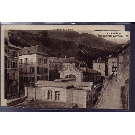 Carte postale 65 - Bareges - etablissement Thermal - Non voyage - Dos divise