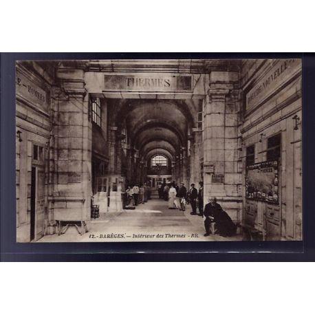 Carte postale 65 - Bareges - Interieur des Thermes - Non voyage - Dos divise