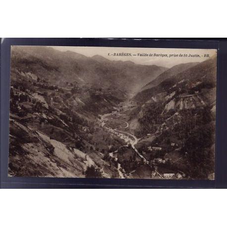 Carte postale 65 - Bareges - vallee de Bareges - prise de St-Justin - Non voyage - Dos divi