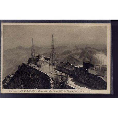 65 - Bigorre - observatoire du Pic du Midi de Bigorre - Non voyage - Dos divi
