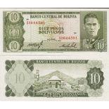 Bello banconote Bolivia Pick numero 154 - 10 Peso 1962