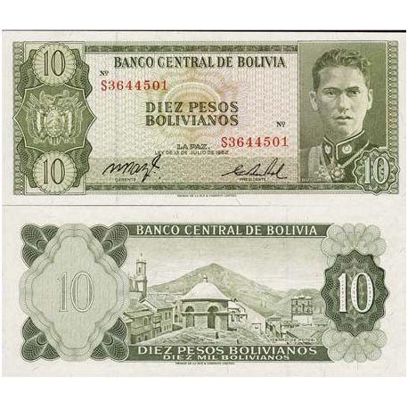 Bolivie - Pk N° 154 - Billet de 10 Pesos