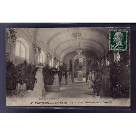 Carte postale 65 - Capvern-les-Bains - Vue interieure de la buvette - Voyage - Dos divise