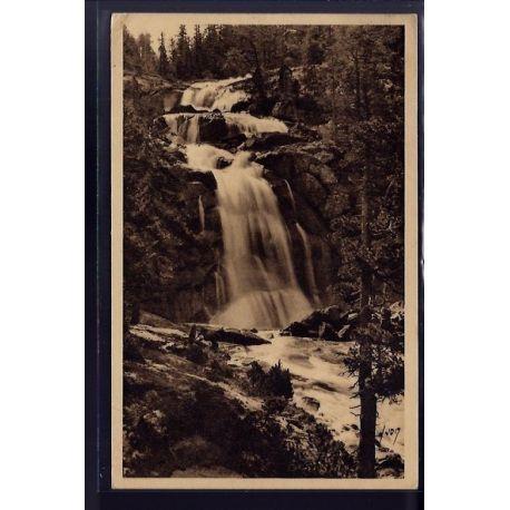 Carte postale 65 - Cauterets - cascade du pont d' Espagne - Voyage - Dos divise