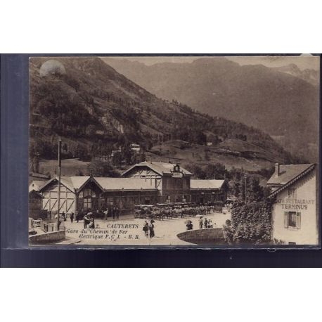 Carte postale 65 - Cauterets - Gare du chemin de fer electrique - Non voyage - Dos divise