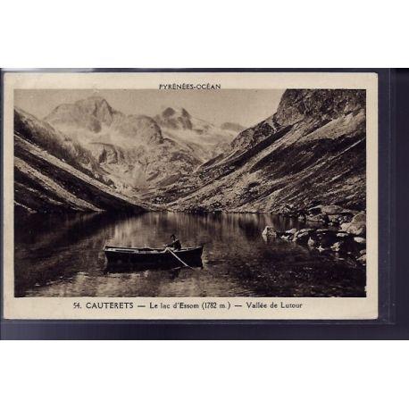 Carte postale 65 - Cauterets - le lac d' Essom - vallee de Lutour - Voyage - Dos divise