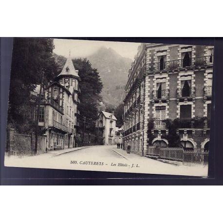 Carte postale 65 - Cauterets - les Hotels - Non voyage - Dos divise