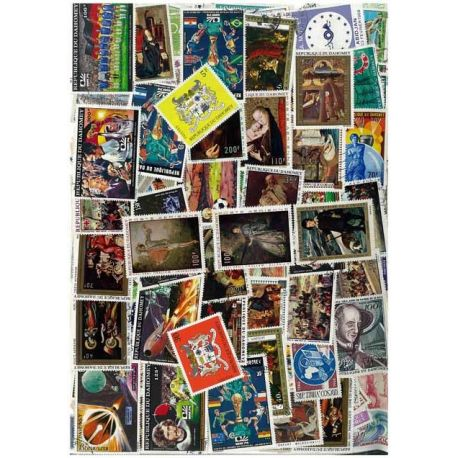 Dahomey - 25 verschiedene Briefmarken